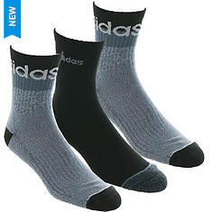 adidas Men's Blocked Linear 3-Pack High Quarter Socks