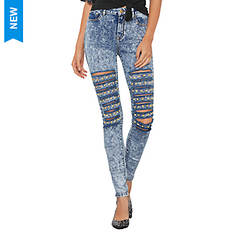 Front Destructed Studded Jean