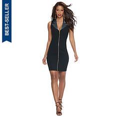 Tuxedo Zip-Front Dress