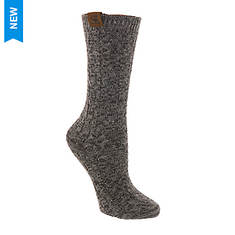 BEARPAW Women's Chunky Cable Crew Socks