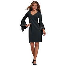 Stud-Trimmed Bell-Sleeved Dress
