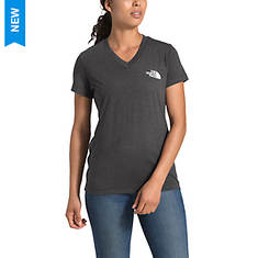 The North Face Women's Half Dome Tri-Blend V-Neck Tee SS