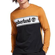 Timberland Men's LS Cut/Sew Linear Logo T