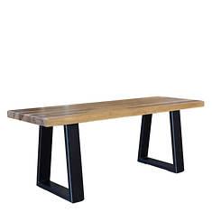 AmeriHome Sheesham Wood Top Backless Bench