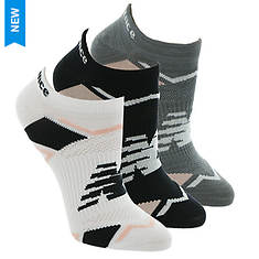New Balance Women's LAS60123 Perf Elite Sport No Show 3-Pack Socks