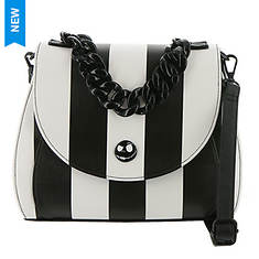 Loungefly x Disney The Nightmare Before Christmas Striped Crossbody Bag
