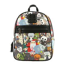 e2365811940 Loungefly x Disney The Nightmare Before Christmas Chibi Mini Backpack