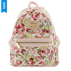 Loungefly Disney Belle Floral Mini Backpack