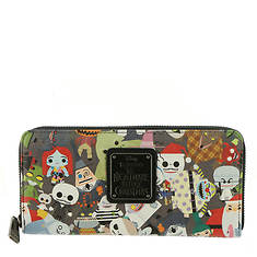 Loungefly x Disney The Nightmare Before Christmas Chibi-Print Wallet