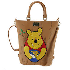 30f506376e2 Loungefly Disney Winnie The Pooh Convertible Tote Backpack