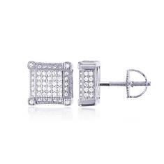 Sterling Silver Square Stud Earrings