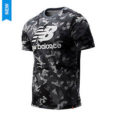 New Balance Men's Printed Essentails Stacked Logo T