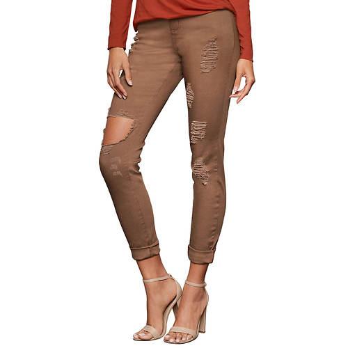 Ripped-Knee Destructed Skinny Jean