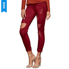 Ripped-Knee Destructed Skinny Jean