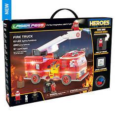 Laser Pegs Heroes Fire Truck 280-Piece Block Set