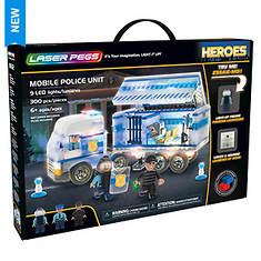 Laser Pegs Heroes Police Unit 300-Piece Block Set