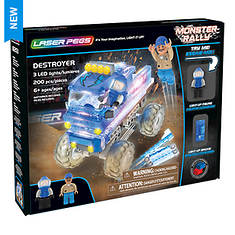 Laser Pegs Monster Rally Destroyer 200-Piece Set