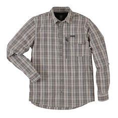 Wrangler Men's Heathered Plaid Utility Shirt