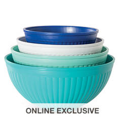 Nordic Ware 4-Piece Prep & Serve Mixing Bowl Set