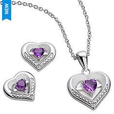 Heart Earrings & Necklace Set