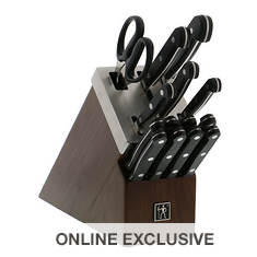 15-Piece German Stainless Steel Knife Set with Self-Sharpening Block