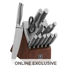 14-Piece German Stainless Steel Knife Set with Self-Sharpening Block