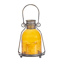 Monaco Glass LED Candle Lantern