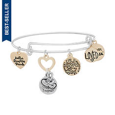 CZ Heart Mother/Daughter Bracelet