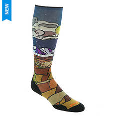 Smartwool PhD Ski Light Elite Buttermilk Nights Print OTC Socks