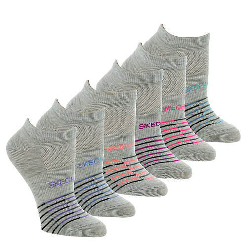 Skechers Women's S113469 Low-Cut 6-Pack Socks