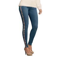 Leopard Side Stripe Jean