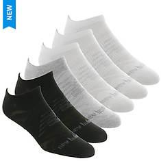 New Balance LAS03226 Flat Knit No Show 6-Pack Socks