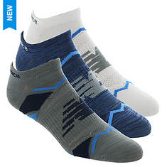 New Balance LAS60123 Perf Elite Sprt NoShow 3-Pack Socks