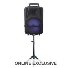 QFX Party Speaker with Stand & Microphone