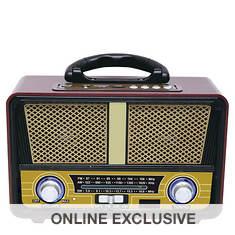 QFX Retro Bluetooth AM/FM Radio