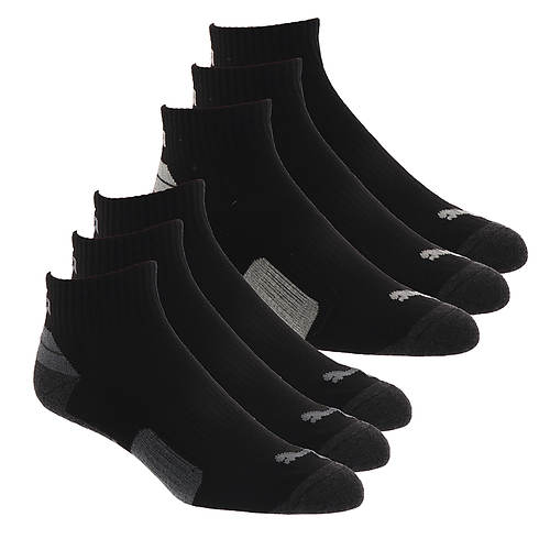 PUMA Men's P113434 Quarter 6 Pack Socks