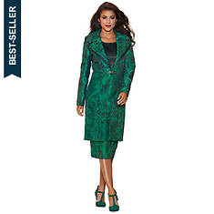Contrast Jacquard Dress Set