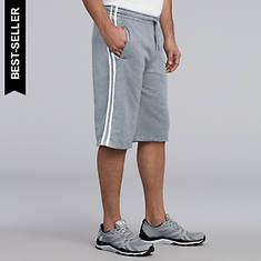 2-Stripe Fleece Short