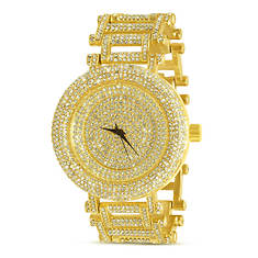Iced Out Curvy Bezel Bling Watch