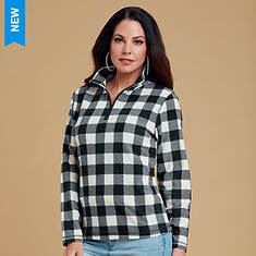 Women's Printed Fleece 1/4 Zip