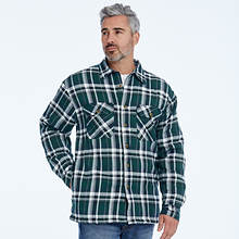 Sherpa-Lined Flannel Shirt