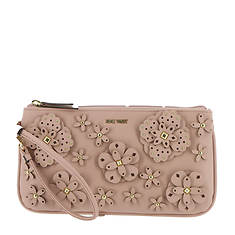Nine West 3D Floral Large Wristlet