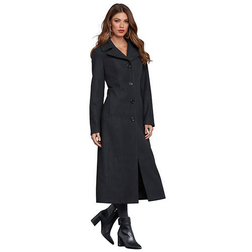 Button-Front Overcoat