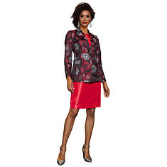 Jacquard Jacket and Sheath Dress Set
