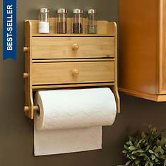 Wall-Mount Paper Towel Holder with Wrap Dispensers