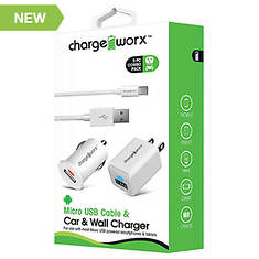 Charge Worx Android Micro USB Charging Kit