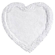 Ruffled-Border Tufted Heart Bath Mat
