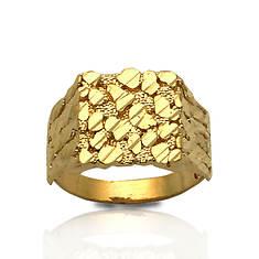10K Yellow Gold Diamond-Cut Nugget Ring