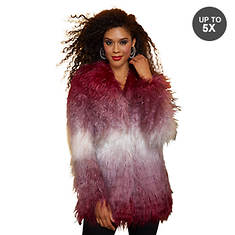 Ombre Faux Fur Coat