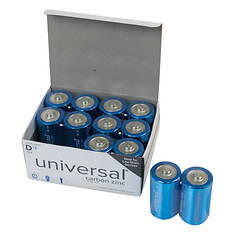 12-Pack D Battery Value Box